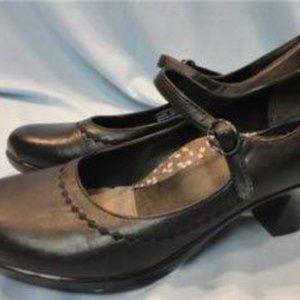 Dansko Mary Jane Heels Shoes Black Leather Sz 7.5